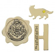 HARRY POTTER Set 3 PINS 4cm Arms House of HUFFLEPUFF Original OFFICIAL