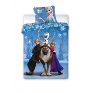 Bed Set FROZEN Anna Kristoff Olaf Sven SNOW QUEEN Disney DUVET COVER 140x200 Cotton