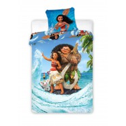 BED SET 140x200cm MOANA Oceania Vaiana Pua Pua and Pillow Case 70x90cm 100% Cotton