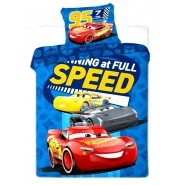 Bed Set BABY Disney CARS Full Speed McQueen DUVET COVER 100x135 Cotton