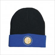 Winter HAT Beanie BLACK with BLUE BAND Original INTER Official