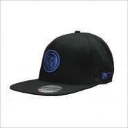 Summer CAP Hat BLACK with BLUE LOGO Original INTER Official