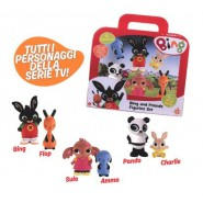 BING Boxed SET Suitcase with 6 FIGURES Characters 7cm Original GIOCHI PREZIOSI
