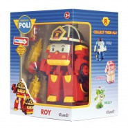 ROY Robot Tranformer WITH LIGHTS from ROBOCAR POLI 12cm Original