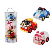 ROBOCAR POLI Tube BOX 3 Friction MODELS Robot 8cm POLI AMBER ROY  Original
