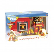 ROBOCAR POLI Playset TRANSFORMER ROY With SUITCASE Original