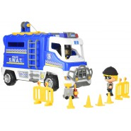 PINYPON Playset Action SPECIAL OPERATIONS SWAT Police VEHICLE with 2 FIGURES Original FAMOSA
