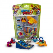 SUPERZINGS SERIE 3 Special Blister SLIDER with 5 FIGURES 1 Slider 1 Ramp  ORIGINAL Super Zings