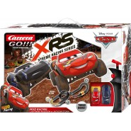 Electric SLOT CAR Racing CARS MUD RACING Disney LIGHTNING McQueen Versus JACKSON STORM 5.4 Meter CARRERA GO !