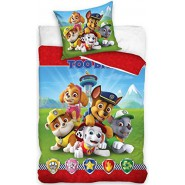 PAW PATROL Bed Set Group 2 Pieces DUVET COVER 140x200cm and pillow case 70x90cm Cotton ORIGINAL Official Nickelodeon