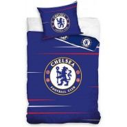 Single BED SET Cotton Duvet Cover RCHELSEA FC BLU Blues Logo 140x200cm