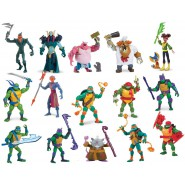 NINJA TURTLE Action Figure Posable 10cm BATTLE SHELL Storage Mutant Original Giochi Preziosi