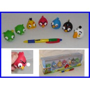 ANGRY BIRDS Complete Set 7 Characters Anti Stress Eyes Outside