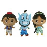 ALADDIN Set 3 Plush 30cm Aladdin Jasmine Genie ORIGINAL Disney Lamp