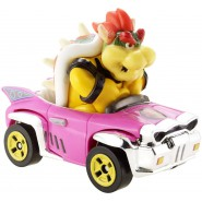Die Cast Model BOWSER Badwagon KART From SUPER MARIO Scale 1:64 5cm Hot Wheels