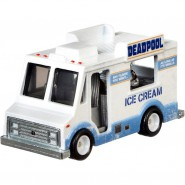 Die Cast Model DEADPOOL Ice Cream Truck Metal Scale 1:64 6cm HotWheels Premium Real Riders