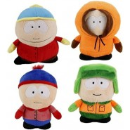 SOUTH PARK 4 Plushes 20cm Kenny Kyle Eric Stan ORIGINAL Comedy Central