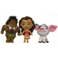 VAIANA Oceania Set 3 Plush 23cm Maui Moana Pua Pua ORIGINAL Disney Cartoon Movie