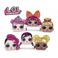 L.O.L. Surprise Complete Set 6 Cushions Different Characters Faces 20cm Original OFFICIAL MGA Fashion LOL
