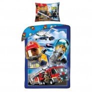 LEGO CITY Firefighters Squad Fire Original DUVET COVER 140x200cm Cotton OFFICIAL