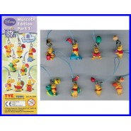 Set 8 Figures WINNIE POOH Danglers MASCOTS EDITION PART 1 Tomy Gashapon ORIGINAL