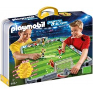 Playset SOCCER GAME Field Take Away WITH 2 PLAYERS and 2 GOALKEEPERS 6857