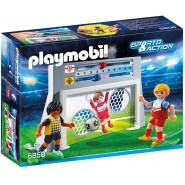 PLAYMOBIL Playset SOCCER GOAL With SCOREBOARD With 1 Player and 1 Goalkeeper 6858