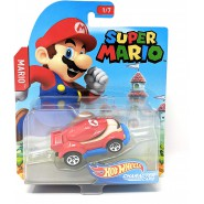 Die Cast Model Car MARIO From SUPER MARIO Scale 1:64 6cm HotWheels Character Cars