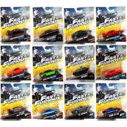FAST AND FURIOUS Complete Set 12 Different Models CAR Scale 1:55 Dodge Ripsaw Ford GT Maserati MATTEL Hot Wheels DIE CAST
