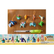 SET 8 Figures POKEMON MINI SWING Collection With Dangler Originai BANDAI Gashapon BLASTOISE etc.