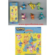 SET 6 Figure POKEMON Advanced BOBBLE HEADS Originali TOMY Gashapon PIKACHU etc.
