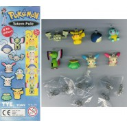 SET 8 Mini Figures POKEMON TOTEM Original TOMY Gashapon PIKACHU SQUIRTLE etc.