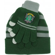 SLYTHERIN Set HAT and GLOVES Harry Potter ORIGINAL and OFFICIAL Warner Bros SERPENTARD Draco Malfoy