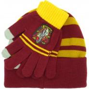 GRYFFINDOR Set HAT and GLOVES Adult Size Harry Potter ORIGINAL and OFFICIAL Warner Bros Hogwarts