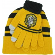 HUFFLEPUFF Set HAT and GLOVES Adult Size Harry Potter ORIGINAL and OFFICIAL Warner Bros Hogwarts