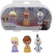 Frozen 2 Box 3 FIGURES 6cm Whisper And Glow Characters ANNA ELSA OLAF Disney Giochi Preziosi
