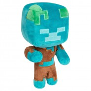 Plush 20cm CHARACTER DROWNED Happy Explorer MINECRAFT Original Official JINX