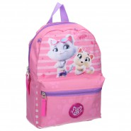 Backpack 44 Cats 31x25x9cm Pink 2 Characters ORIGINAL School Kindergarden Sport