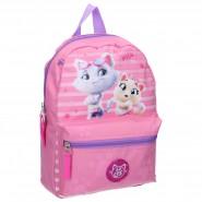 Backpack 44 Cats 31x25x9cm Pink 2 Characters ORIGINAL School Kindergarden Sport