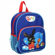 Backpack BING and FLOP 28x22x9cm BLUE 2 Characters From Cartoon ORIGINAL School Kindergarden Acamar Film