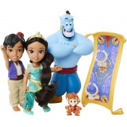 BOX 4 FIGURES Aladdin Genie JASMINE ABU Carpet 18cm JAKKS PACIFIC Disney Princess