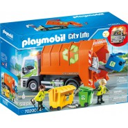 Playset GARBAGE RECYCLING TRUCK 31cm With LIGHTS Playmobil City Life 70200