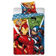 AVENGERS Single Bed Set 4 Characters Iron Man Captain America Hulk Thor Original DUVET COVER 140x200cm Cotton OFFICIAL