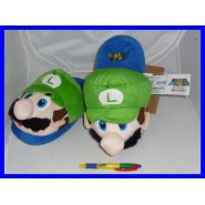 Amazing Slippers Plush LUIGI Super Mario JUNIOR SIZE JAPAN New