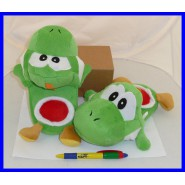 PAIR of Plush SLIPPERS of YOSHI Super Mario JUNIOR SIZE Japan New