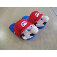 PAIR of Plush SLIPPERS of MARIO Super Mario JUNIOR SIZE Japan New