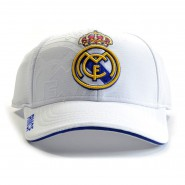 REAL MADRID C.F. Hat RMCF Cap OFFICIAL White BLANCO New ADULT SIZE