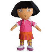 PLUSH DORA EXPLORER 35cm With Backpack With Smile From Animated Movie Original NICKELODEON
