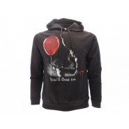 CLOWN IT Hooded Sweatshirt Black Sweater HOODIE RED BALOON Stephen King Movie 2017