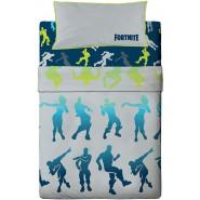 FORTNITE Dance Single Bed Set 3 Videogame Pieces Flat Sheet 90x195cm + Pillow Case Cotton ORIGINAL Official Epic Games